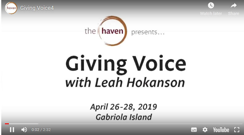 Giving Voice at The Haven